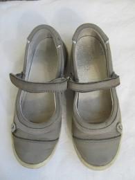 Кожаные туфельки,балетки на девочку.32. title=