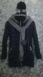 Зимовий жіночий(підлітковий) пуховик ,куртка.В Подарунок Шарф і Шапка. title=