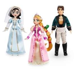 Набор мини кукол Рапунцель, Кассандра и Флин Райдер, Дисней.