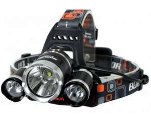 Налобный супер фонарь Bailong Wimpex Police RJ-3000 T6 title=