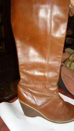 кожаные женские сапоги