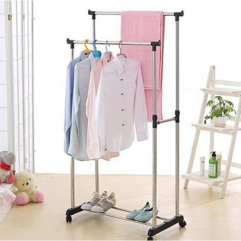 """СКИДКА 20%Двойная стойка-вешалка для Одежды."""" Double-pole """""""