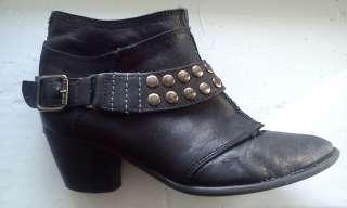 Крутые ботинки-казаки. Рокерский стиль. Кожа, 36-й размер.