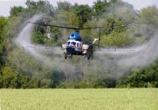 Обработка озимой пшеницы вертолетом по всей Украине title=