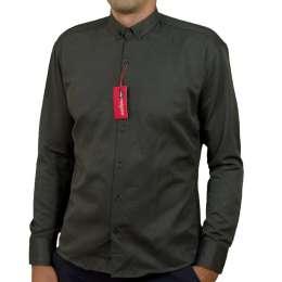 Red Polo,  чоловіча сорочка сірого кольору, тканина лакоста, туреччин title=