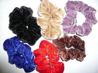 Велюровые резинки разных цветов доставка в подарок title=