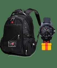 Швейцарский рюкзак SWISSGEAR + часы Swiss army в подарок title=