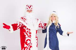 Новогоднее поздравление Деда Мороза и Снигурочки title=