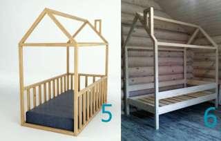 Кроватка-домик из дерева. Экологично, удобно, красиво.