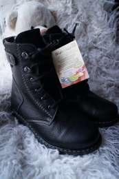 Ботинки кожаные для мальчика и девочки, зимние, новые р. 32 title=