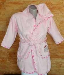 Махровые халаты на 3-4 годика с капюшоном для девочек и мальчиков.