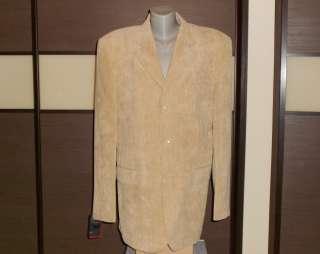 Пиджак вельветовый. Размер 50. бежевого цвета  title=