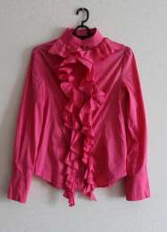 Яркая, розовая блуза,рубашка,акци...