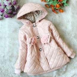 Курточка утепленная синтепоном для девочек 2, 3, 4, 5 лет