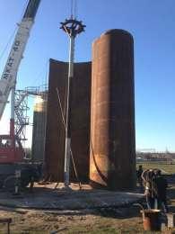 Резервуар стальной  РВС : 1000, 400, 200, 100 куб.м.