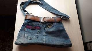 Сумка женская джинс handmade title=