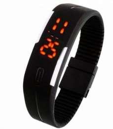 Силиконовые часы-браслет LED  title=