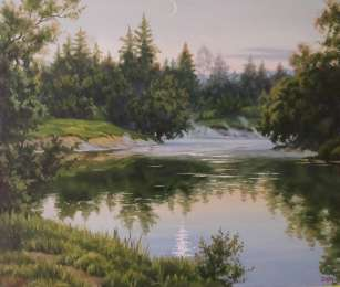 Картина масло холст 60×70, Некряч, 2004 title=