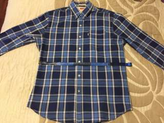 Рубашка осенняя мужская синяя Levi's  title=