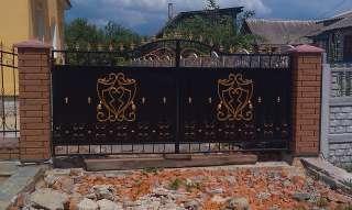 Железные ворота, гаражные и дворовые.