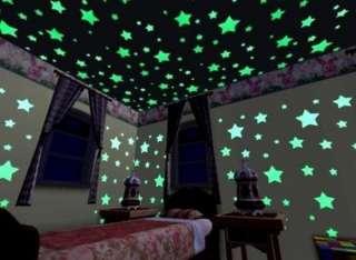 100 шт Звездное небо, наклейки звезды светящиеся фосфорные энергия сол title=