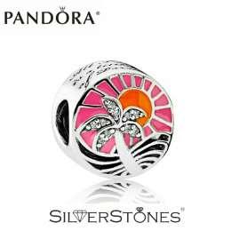 Скидки! Оригинал Pandora Пандора шарм Закат в раю арт. 792116ENMX