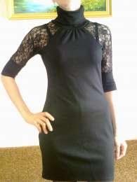 Элегантное черное платье title=
