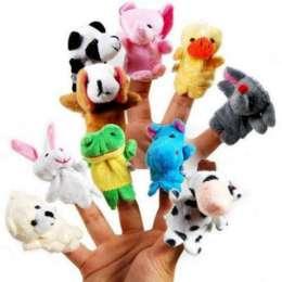 10 шт Пальчиковые игрушки мягкие кукольный театр звери животные зверуш title=