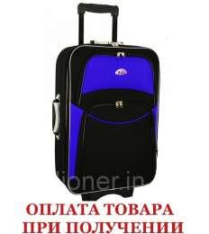 Чемодан сумка 773 (большой) черно-серый title=