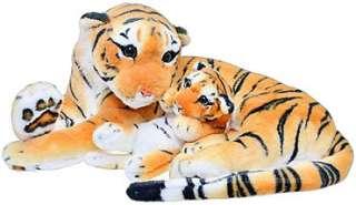 Мягкая игрушка Тигр с тигренком, 2 цвета, 46-21см, MP 0308 title=