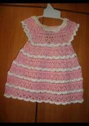 Продам летнее платье ручной работы на девочку до года title=