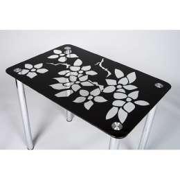 Стеклянный обеденный стол Цветение