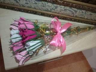 Лучший подарок для девушки,жены! Розы с шоколадными конфетками title=