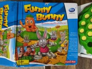 Настольная игра Funny Bunny, заячьи бега, выдерни морковку title=