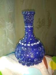 Бутылка-ваза, ваза, ваза ручной работы, title=