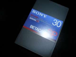 Новые видеокассеты Betacam SP Sony BCT-30MA title=