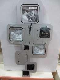Стильные настенные часы с фоторамками для вашего дома и в подарок title=
