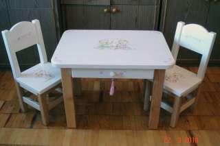 Детские столики и стульчики с ручной росписью