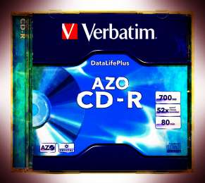 Verbatim CD-R 700 MB 52x AZO Crystal Slim - В Упаковке 20 шт. title=