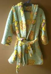 Детский халат с капюшоном (1-2 года) title=