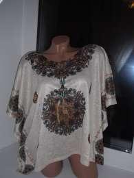 Шикарные блузы-кафтаны свободного кроя с оригинальным принтом title=
