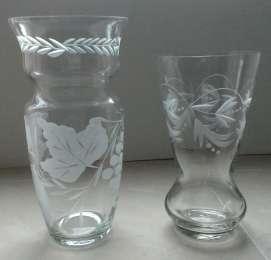 Старинные вазы из стекла title=