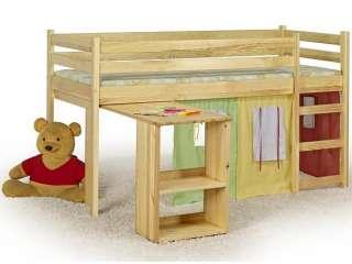 Односпальная детская кровать EMI с матрасом и столиком