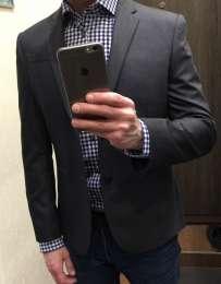 Новый пиджак Marks&Spencer Limited Collection.Charcoal. title=