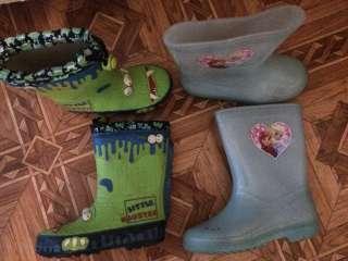 Детские резиновые сапоги б/у из Европы бренды любых размеров и видов