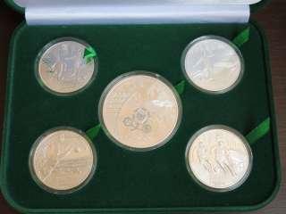 Набор монет Евро 2012 (серебро) 5 шт. title=