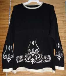 Гламурный свитер вышивка узор