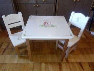 Столик и стульчик из ольхи с росписью