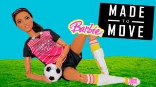 Кукла Barbie Made to Move Soccer Player Барби Двигайся как я Футболист title=