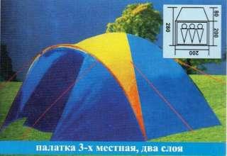 Палатка туристическая трехместная Coleman 1011 title=
